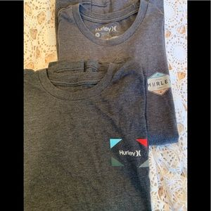 Two Nearly New Hurley Cotton T Shirts